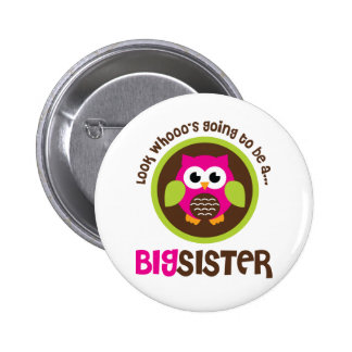 Look Whoos Going to be a Big Sister Owl Pins
