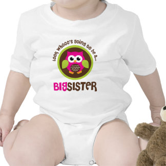 Look Whoos Going to be a Big Sister Owl T Shirts