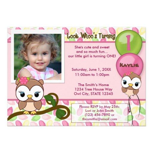 Look Whoo's Turning OWL birthday invitation(photo)