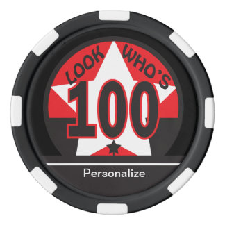 Look Who's 100 | 100th Birthday Set Of Poker Chips