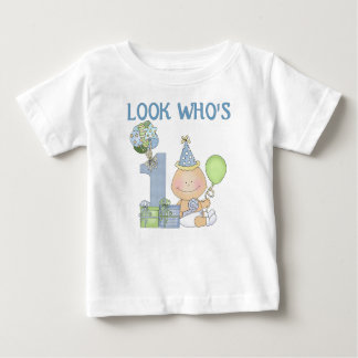 Look who's 1 birthday t-shirts