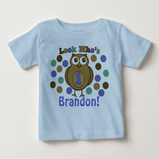 Look Who 39 S 1 Owl First Birthday Shirt Zazzle