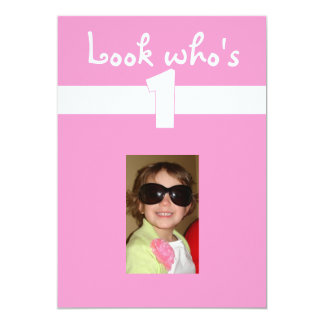 Look who's 1 with photo layout card