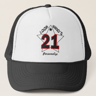 Look Who's 21 Hat | 21st Birthday | DIY Name