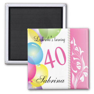 Look Who's 40 | 40th Birthday Magnet