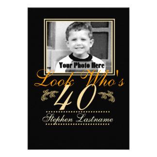 Look Who's 40 Photo Invitation
