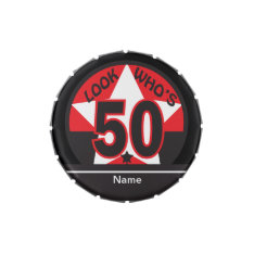 Look Who's 50 | 50th Birthday Candy Tins at Zazzle