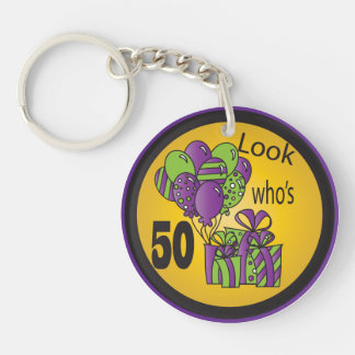 Look Who's 50 | 50th Birthday Keychain