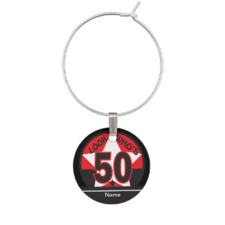 Look Who's 50 | 50th Birthday Wine Glass Charm