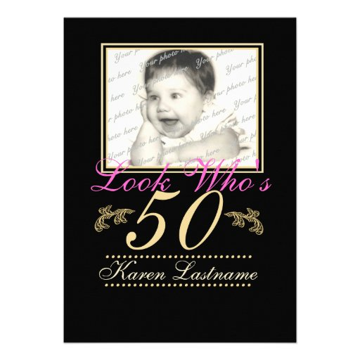 Look Who's 50 Photo Announcement