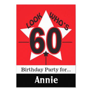 Look Who's 60 | 60th Birthday | DIY Text Card