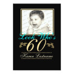 Look Who's 60 Photo 5x7 Paper Invitation Card