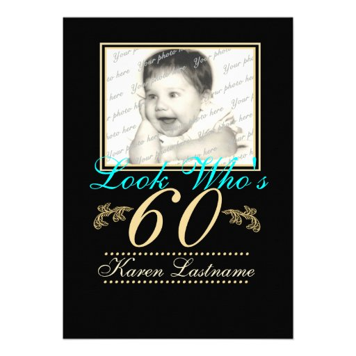 Look Who's 60 Photo Personalized Invitation
