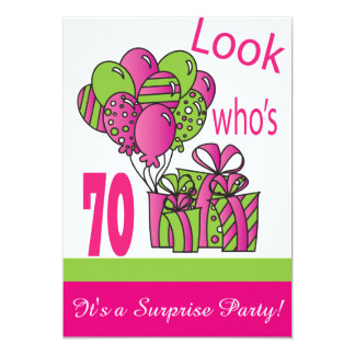 Look Who's 70 | 70th Birthday 5x7 Paper Invitation Card