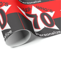 Look Who's 70 Personalize - Birthday Wrapping Paper