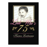 Look Who's 75 Photo 5x7 Paper Invitation Card