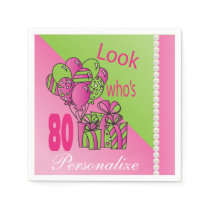 Look Who's 80 | 80th Birthday Paper Napkin