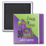 Look Who's 90 | 90th Birthday 2 Inch Square Magnet