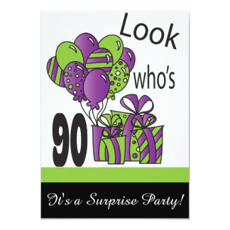 "Look Who's 90 | 90th Birthday 5"" X 7"" Invitation Card"