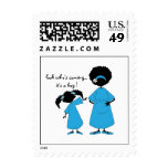 Look Who's Coming (Blue) Postage Stamps