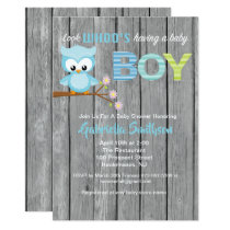 Look Who's Having a Baby Boy Baby Shower Card