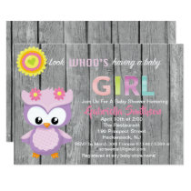Look Who's Having A Baby Girl Baby Shower Card