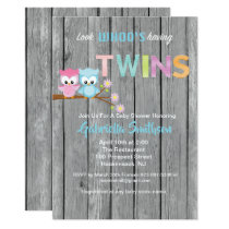 Look Who's Having Twins Baby Shower Card