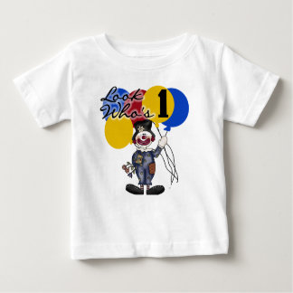 Look Who's One Clown Birthday Baby T-Shirt