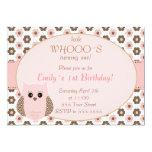 Look Whos Owl Birthda Baby Shower Invitation