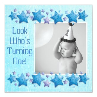 Look Who's Turning 1, First Birthday Invitation