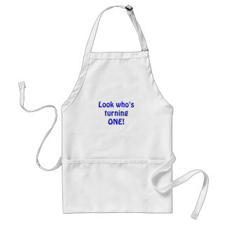 Look Who's Turning One Aprons