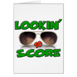 Lookin to Score with Sunglasses Greeting Cards