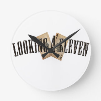 Looking 4 Eleven Logo Round Wall Clock