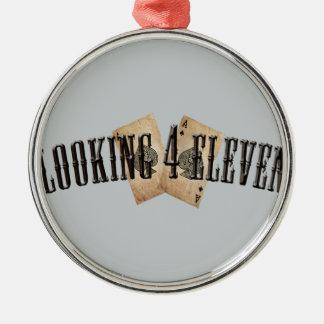 Looking 4 Eleven Logo Metal Ornament