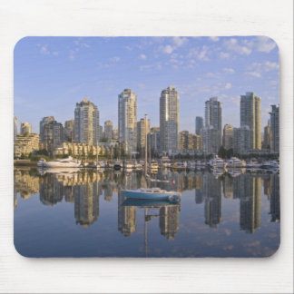 Looking across False Creek at the skyline of 2 Mouse Pad