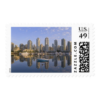 Looking across False Creek at the skyline of 2 Postage Stamps