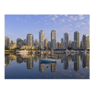 Looking across False Creek at the skyline of 2 Post Card
