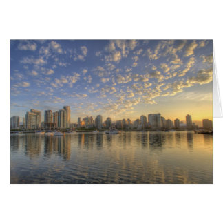 Looking across False Creek at the skyline of Greeting Card