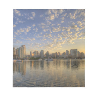 Looking across False Creek at the skyline of Scratch Pads