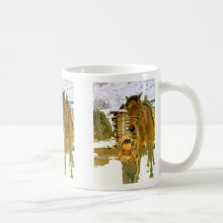 Looking after the horse classic white coffee mug