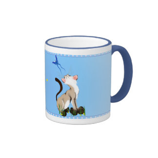 Looking At A Butterfly Mug