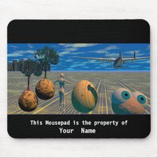 Looking at a Plane Mousepad Mouse Pad
