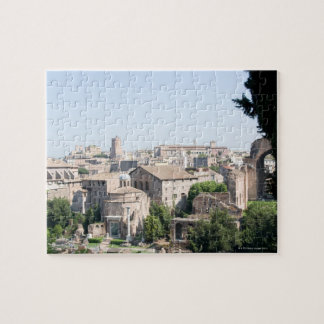 Looking at a section of the Rome Forum from the Jigsaw Puzzle