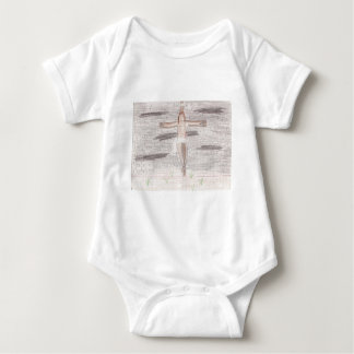 Looking At Calvary Drawing Procucts Baby Bodysuit