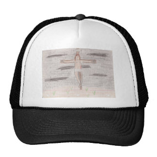 Looking At Calvary Drawing Procucts Trucker Hat