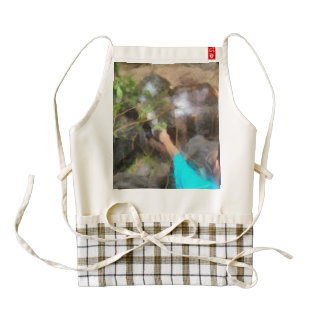 Looking at tortoises zazzle HEART apron
