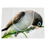 Looking at you! Cute lovebird large gift bag
