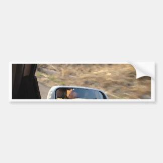Looking Back Bumper Sticker