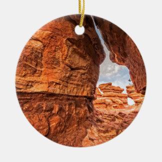 Looking Back Ceramic Ornament