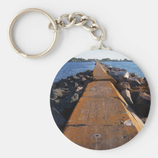 Looking Back Basic Round Button Keychain